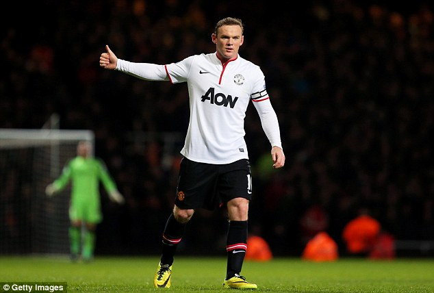 Thumbs up: Rooney put in a supreme performance for David Moyes's men at Upton Park