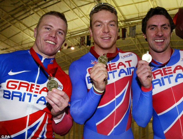 Long struggle: Craig MacLean, with Chris Hoy and Jason Queally after winning the Track Cycling World Cup in 2005, suffered in silence for more than a decade before discovering he had coeliac disease