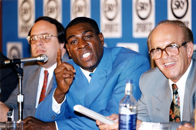 Legend: Mickey Duff worked with the likes of heavyweight boxer Frank Bruno