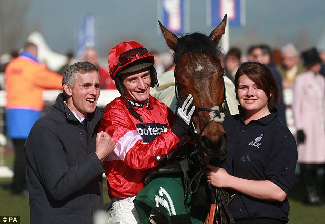 Delight: Daryl Jacob was on a high after winning on board Lac Fontana at Cheltenham Festival