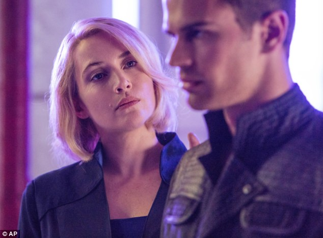 'Cool mum': Kate stars against Theo James in Divergent - the screen adaption of the popular teen sci-fi novel