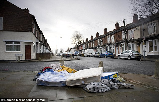 No prizes here: James Turner Street was depicted as filled with litter in the Channel 4 series, Benefits Street