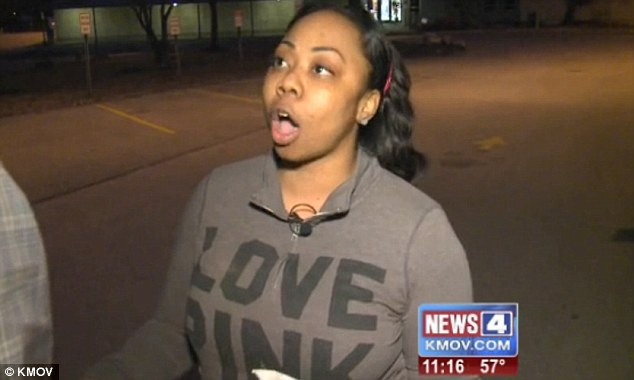 Arrested: Missouri mother Niakea Williams, pictured, has been arrested and her son's elementary school put on lockdown after she entered the school building without signing in when she came to pick him up