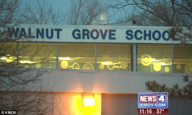 Walnut Grove: She says she was called to the school, pictured, by a teacher and when she arrived, she was buzzed in by school officials