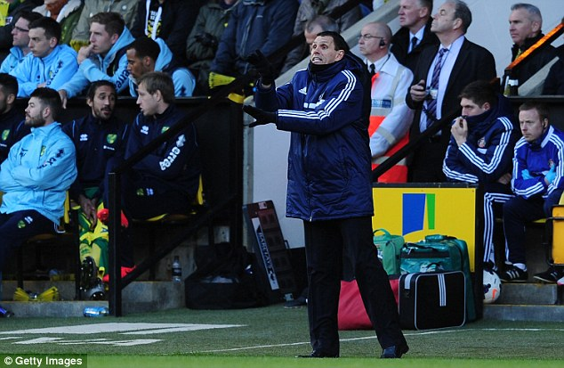 Uphill: Gus Poyet's side remain in the bottom three after the disappointing loss at Carrow Road