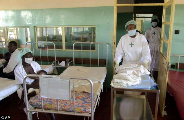 Based on evidence from cases in Uganda (pictured), health ministers have warned people to avoid contact