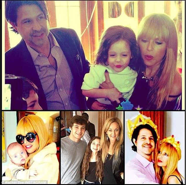 Family collage! Zoe could barely contain her son's birthday party fun in a single photo that was shared on Sunday