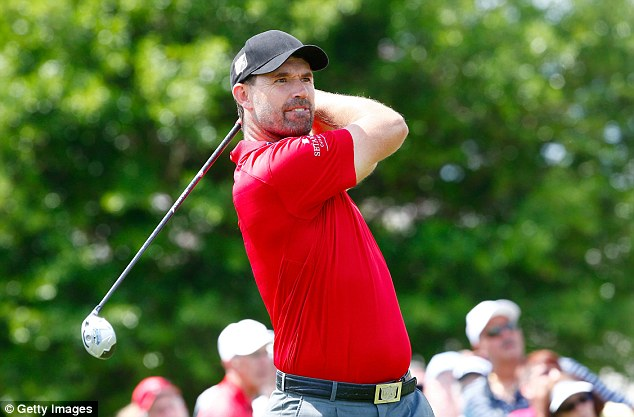 Blow: Padraig Harrington finished with a score of 80 as he struggles to make April's Masters