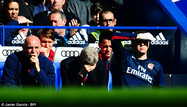 Bad day: Arsene Wenger celebrated his 1,000th game in charge of Arsenal in the worst way