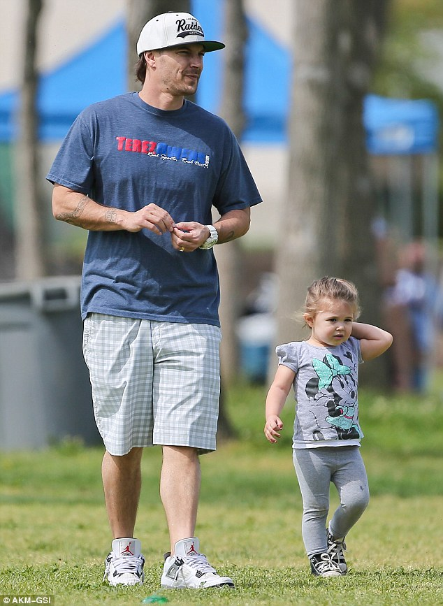 Disney girl: Kevin and Victoria's daughter Jordan Kay wore a cute Minnie Mouse top