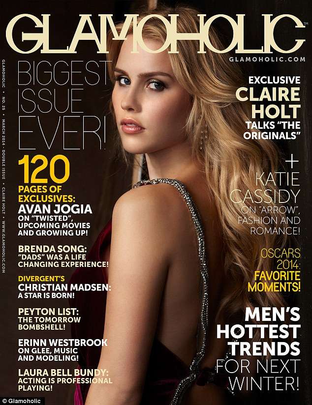 Cover girl: Claire appears on the March cover of the US magazine