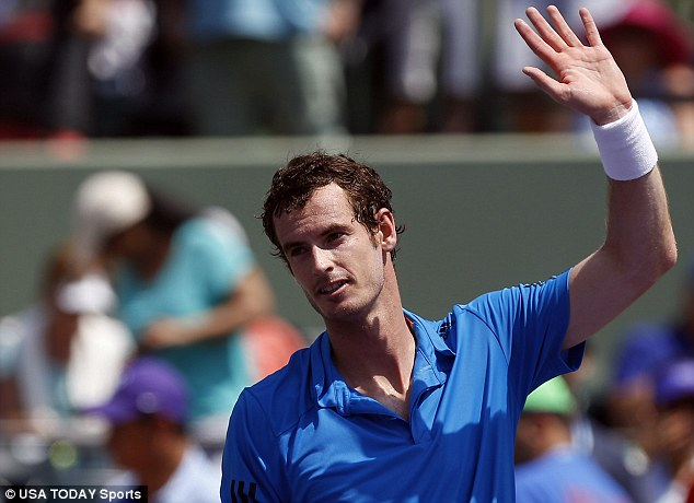 Defending champion: Andy Murray is currently playing in the Miami Open and will go straight on to the Davis Cup quarter final in Italy