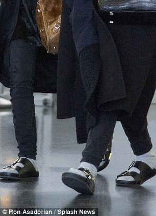 Scandalous sandals: With socks or without...but will it catch on with other fashionistas?