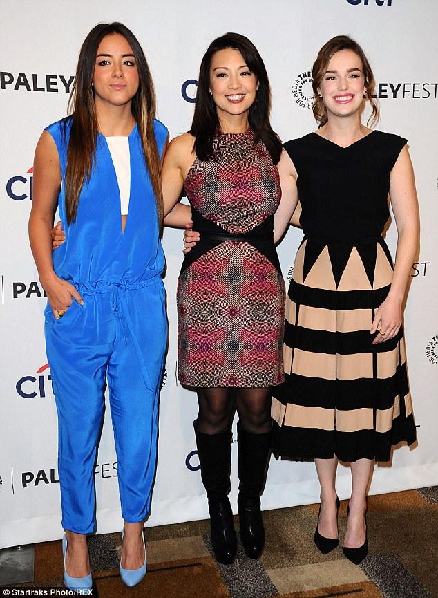 Fashion agents: (L-R) Chloe Bennett, Ming-Na Wen and Elizabeth Henstridge