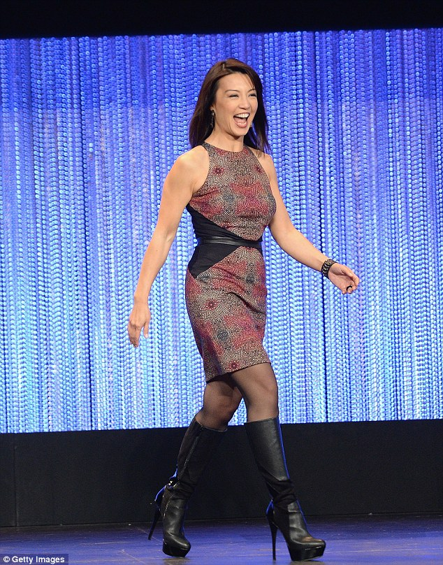 Making great strides: Ming-Ha strutted on to the theatre stage looking like she owned it