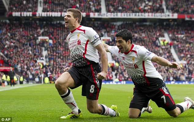 Delight: The Liverpool captain has enjoyed a storming season in the Premier League for Brendan Rodgers