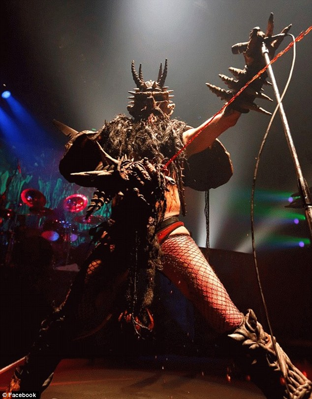 Singer: GWAR frontman Dave Brockie was known to fans as 'Oderus Urungus' and appeared as an intergalactic humanoid barbarian with devil horns
