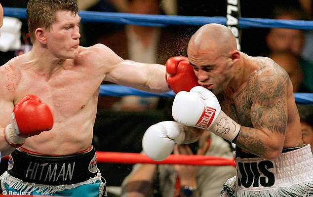 Opponent: Louis Collazo (right) was beaten by Ricky Hatton in 2006