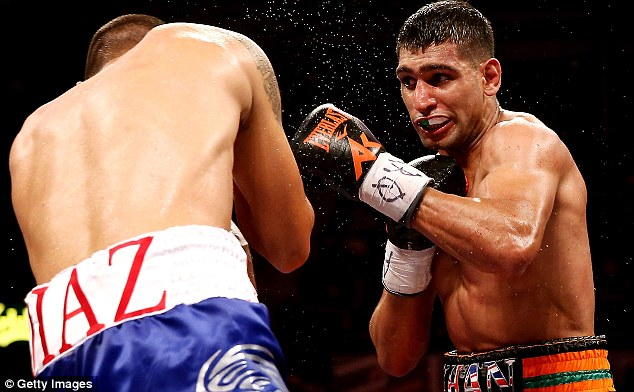 Layoff: Khan was last in action when he beat Julio Diaz in April, 2013 in Sheffield