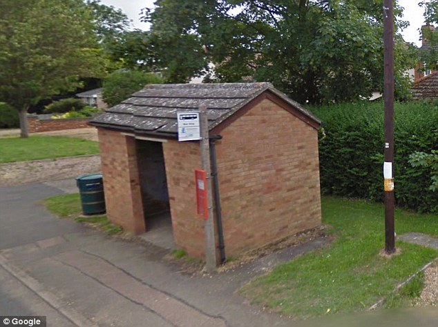 Drop-off: The men would make the frail woman leave money at a bus stop in Blunham or at a nearby lay-by