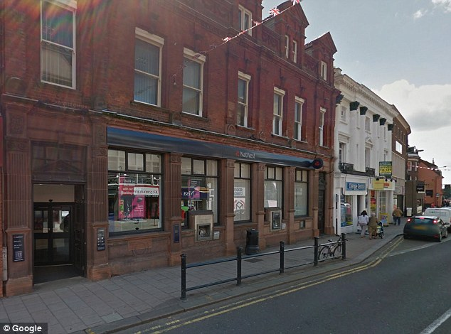 Concern: The alarm was raised when the bank managed at NatWest branch in Bedford noticed £15,000 had been withdrawn from the victim's account
