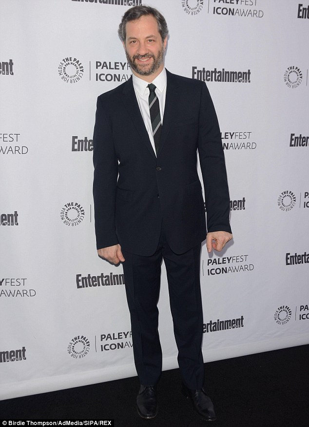 High point: Judd Apatow received the Paleyfest Icon Award in Los Angeles on March 10