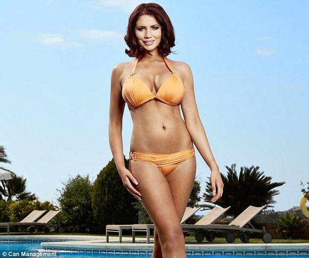 Peachy: Amy's chosen colour accentuates her bronzed skin tone