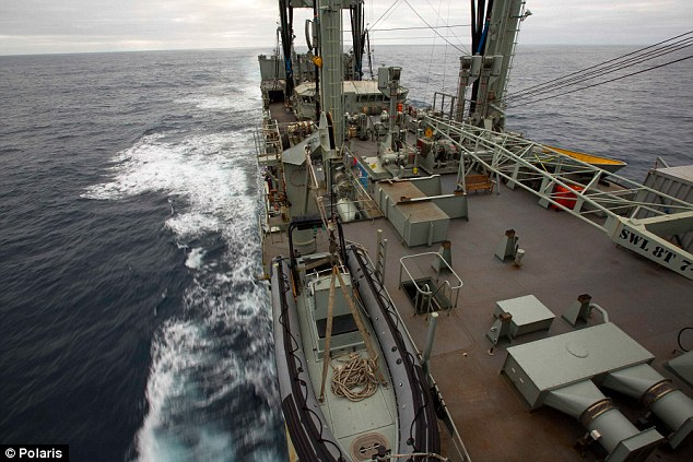 HMAS Success will continue to look for objects spotted by an Australian RAAF Orion aircraft Monday, but the search has been suspended for at least 24 hours