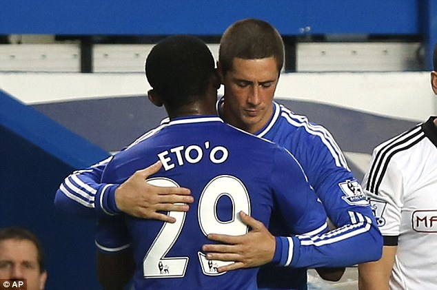 Up for grabs? Fernando Torres and Samuel Eto'o could also end up leaving Stamford Bridge this summer