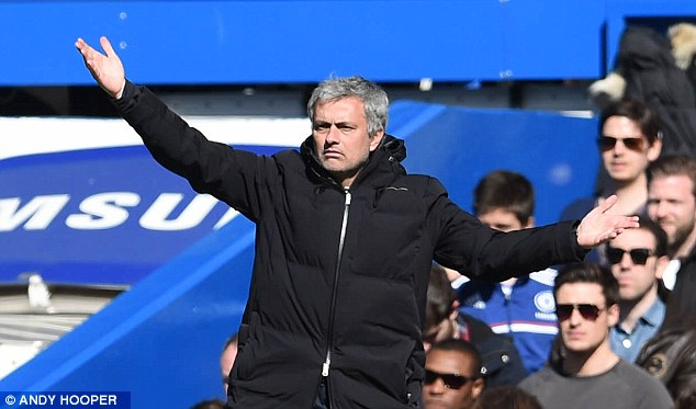 Waiting: Mourinho is set to wait until the summer before deciding what to do about the strikers at the club