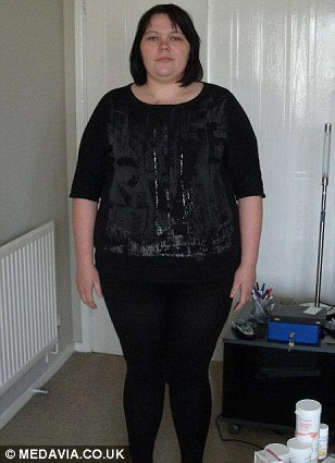 The picture which persuaded Lauren to lose weight after a friend mistook it for a picture of her mother