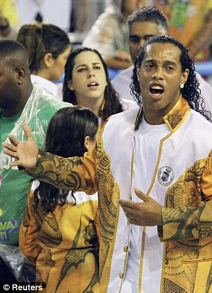 Distracted: Ronaldinho's off-field activities have counted against him