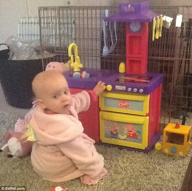 Only 17 months old: Sophia died on the morning of June 27 last year - and it would have taken as little as seven seconds for her to lose consciousness