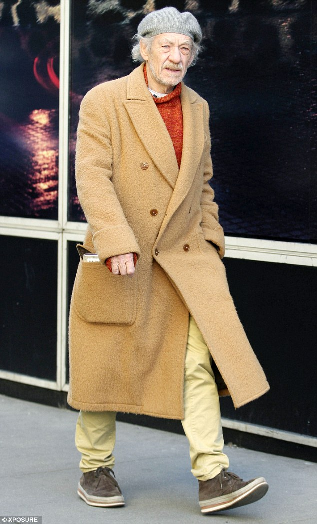 The Chesterton: McKellen's fleecy overcoat was a staple mens' fashion item from the 1920s to the 1960s