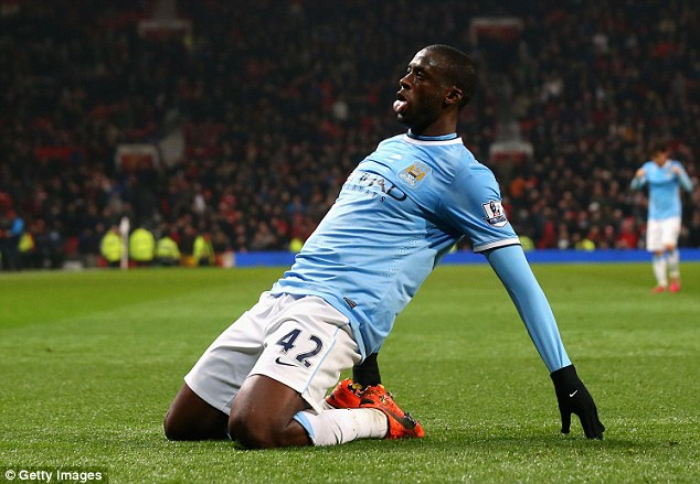 Three and easy: Yaya Toure sealed the victory with a goal late on