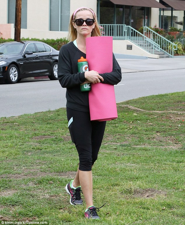 No rest for the wicked! Reese Witherspoon was fresh-faced and radiant after working up a sweat with a yoga session near her home in Brentwood on Tuesday