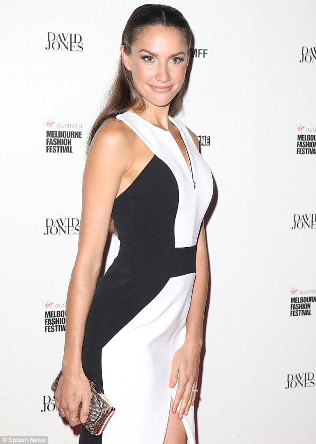 The Miss Universe Australia has wowed on the red carpet recently. She stunned in this black and white dress at the David Jones fashion show in Melbourne in March