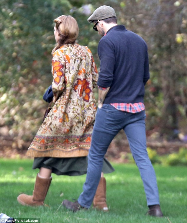 The loved up couple: Blake Lively and husband Reynolds were captured together while on the set of The Age Of Adaline in Vancouver, Canada on Monday
