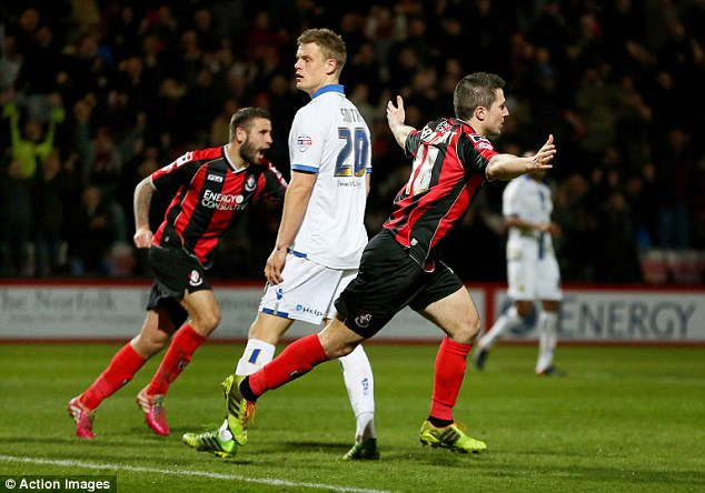 Disappointing: Bournemouth hammered Leeds 4-1 at Dean Court on Tuesday night in the Championship
