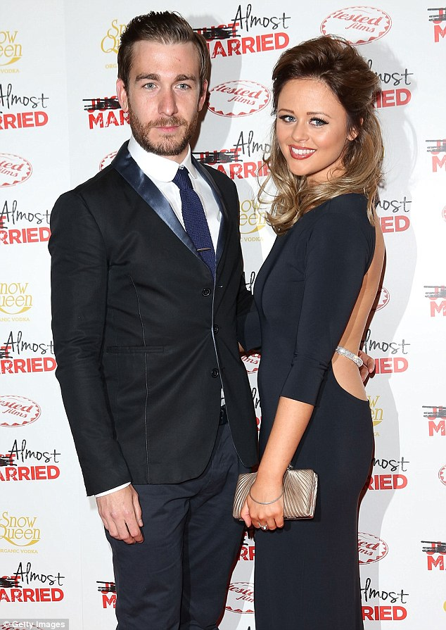 Almost married: Emily shared the red carpet with her leading man in the movie Philip McGinley.