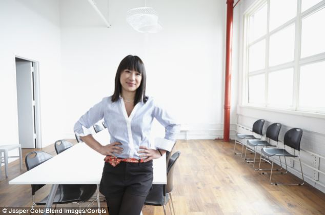 Women in demanding jobs may struggle to get pregnant due to high levels of stress and not eating balance meals. Pictured: Business woman from file