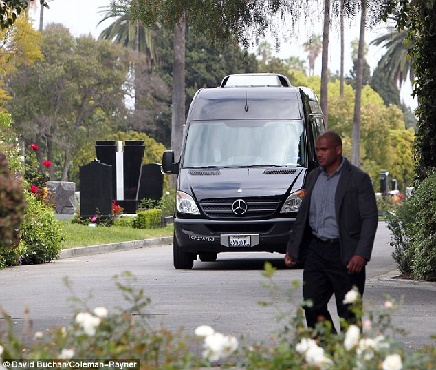Mick Jagger, along with his close family members were driven from the location in a black Mercedes van. A hearse was also seen entering the premises earlier in the day