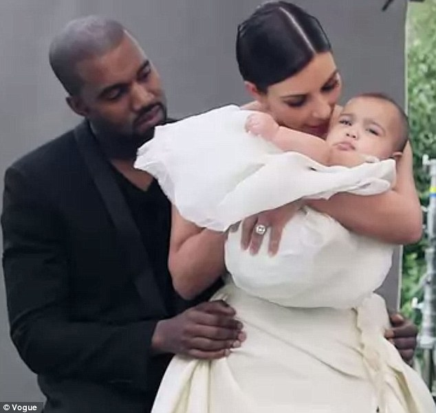 Birthday girl! Kim and her fiancé Kanye West will celebrate their daughter North's one-year birthday next month