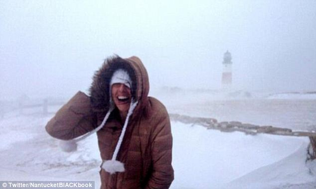 Frozen: Nantucket writer Holly Finigan was nearly blown away when she went up to Sankaty Lighthouse which overlooks the island's eastern shores