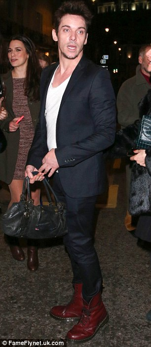 Suited and booted: The Irish star was spotted at London's West End on Tuesday evening, watching Fatal Attraction