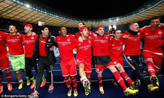 On a roll! Bayern Munich clinched the Bundesliga title this week and are defending their European crown