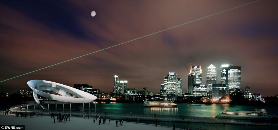 The world's first moon clock  is being planned and would use tidal power to display the size and position of the moon on its three concentric rings (pictured). The huge sculpture is intended to sit at the historic centre of time at Greenwich, as part of a huge redevelopment of the Greenwich peninsula