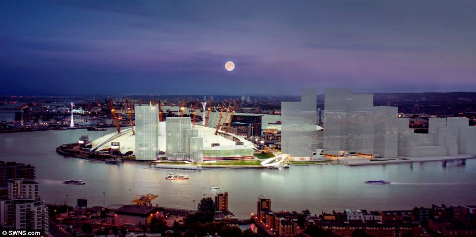 An artist's impression of the moon clock, which will form part of the redevelopment of Greenwich. Aluna will be powered by the very thing it is designed to measure - the moon. The moon creates the tides and the clock will transform them into kinetic energy and then electricity by using turbines that are planned to sit in the Thames