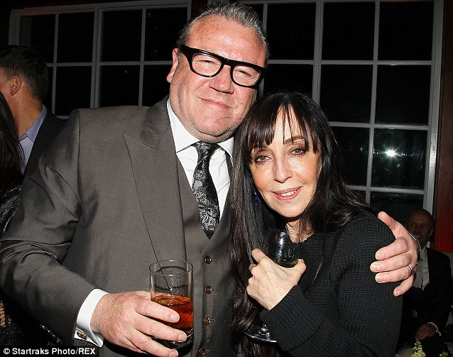 Firm friends: Ray was seen hugging casting agent Bonnie Timmermann at the Noah after party
