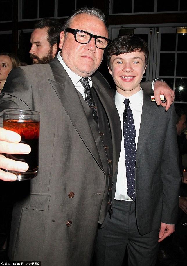Cheers: Co-star Leo Carroll, who plays Noah's son Japheth in the film looked like he was enjoying Ray's company